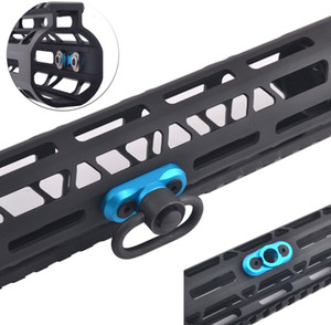 QD M-LOK Mount Standard Sling Swivel 1,25 polegadas Adaptador para M Lok Rail (Azul)