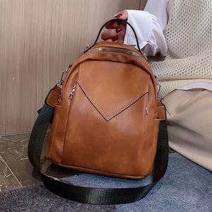 Laamei Women Leather Backpacks Fashion Shoulder Bag Female Ladies Travel Backpack Mochilas School Bags For Girls