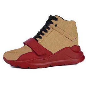 2021 Hohe Qualität Sneaker Casual Schuhe Echte Leder Turnschuhe Trainer Streifen Schuh Mode Casual Schuhe Trainer für Mann Frau Wish Box 03