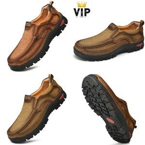 HBP solo per VIP, uomini in vera pelle sneakers all'aperto stivali vintage stivali mocassini scarpe estive antiscivolo Suola in gomma mocassino Plus Size 48 Q1217