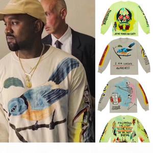 Kanye West Kids See Ghosts Graffiti Men Sweatshirts Crewneck Hoodie Hip-hop Fashion New Arrived Magpie Streetwear Sweatshirt T200608