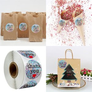 Round Thank You Stickers 500 Gift Decorate Packing Seal Label Diy Envelope Packaging Flash Of Light Stickynotes Self Adhesive 6 5qy F2