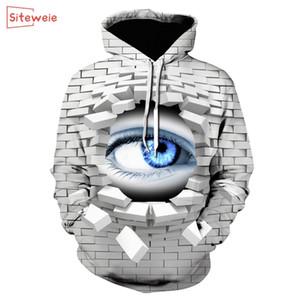 SITEWEIE New Blue Eye Autumn Sweatshirts Men Hoodies 3d Printing Pullover Funny Streetwear Hooded Jackets Male Tracksuits G281 201128