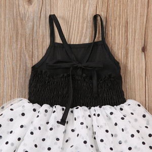 1-5y Toddler Baby Kid Girl Dot Tutu Dress Ruffles Tulle Party Wedding Holiday Birthday Black Dresses For Girls Children sqcJFo