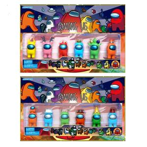 DHL 6 pcs / set 2 estilos entre nós brinquedos de anime figura mini modelos de caixa de carton figuras de brinquedo jogo diy decoração cápsula bonecas cadávias