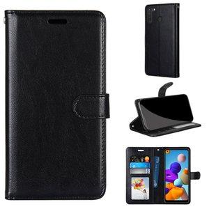 Caso de telefone da carteira para Samsung Galaxy M01 A21S A01 Core A41 UE A31 A31 A70 A21 A20s Flip PU Couro Cock Card Slots