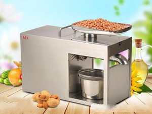 Stainless steel Oil presser Commercial&Home Flax seed Oil press machine Cold&Hot press Oil machine suitable for Peanut LLFA
