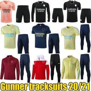 2020 2021 Gunner Tracksuits ARS Учебные куртки Брюки Длинные Рукава Открытые Куртки Пурнет Предварительно Матч Спортивный Спорт Бег Носит 20/21