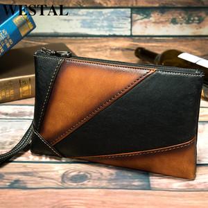 WESTAL Women's Bag Genuine Leather Day Clutches Women Envelope Bag Clutches Evening Bags Handbags Wristlets Bags Bolsa Feminina