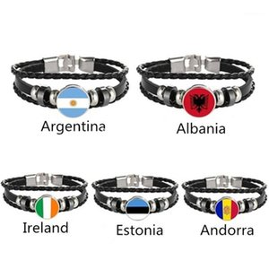 Argentina Albania Ireland Estonia Andorra Flag Multilayer Leather Bracelet Fashion Bracelet Men and Women Jewelry1