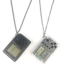 Handheld Game Console Pendant Retro FC Classic Games Tetris Pendant ABS & Stainless Steel Necklace