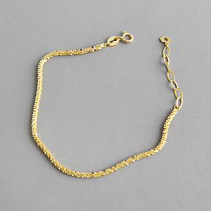 High Quality Minimalist Hand Jewelry Real Gold Plating Adjustable Chain 925 Silver Bracelet 925 Sterling Silver Bracelet