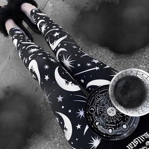 Liser New Fashion Women Parting Gothic Sexy Leggings Punk Style Daily Hight Waist Leggings 201014
