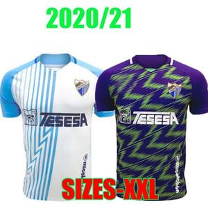 20 21 Malaga Fussball Jerseys Málaga 2020 2021 Jairo Luis Muñoz Jozabed Ismael Football Hemd Zuhause Juankar Camiseta de Fútbol CF Juande