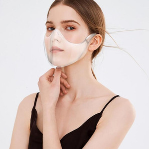 Plastic Transparent Durable Mask Cycling CCA2589 Combine Transparent Protective Bandage DHL Reusable Face Clear Face Mask Shield Rvuxr