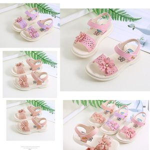 Sandals Top Kids Summer Children Leather Shoes Kids Shoes For Girls Flower Sandals Fashion soft bottom Sneakers