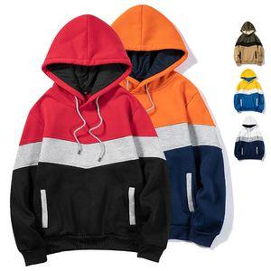Fashion Pullover Hoodies Men 2020 New Patchwork Hooded Sweatshirt Men Hip Hop Hoodie Autumn Fleece Hoodies Streetwear Sweatshirt Y1204