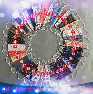 Mélange 39 Concepteur de style Coton anti-poussière Visage de coton multicolore Masques de protection Men Femmes Masque Visable Visable Masque Homme Femme PBT Melt-Blown non-tissé
