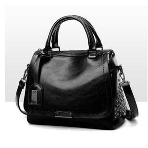 Vintage Rivet Handbags PU Leather Women Bag Sequined Shoulder Bag Designer Women Leather Handbags Luxury Ladies HandBag