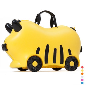 Children luggage kid suitcase locker handBag Toy box luggage Pull rod box Can sit ride Check box LJ200928