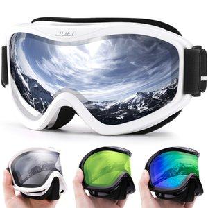 Maxjuli Marque Professionnel Ski Goggles Double Couleurs Lens Anti-Brouillard UV400 Lunettes de ski Ski Hommes Femmes Snow Goggles Q1127