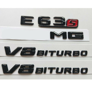 Gloss Black 3D Letters E63s for AMG V8 BITURBO Emblems for Mercedes W212 W213