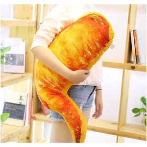 Plush Grilled Fish Chicken Leg Toys Simulation Food Plush Throw Pillow Stuffed Roasted Wing Squid Soft Doll Kids Creative Toys F bbyYuv