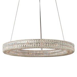 led e14 Vintage American Stainless Steel Crystal Ring LED Light.Pendant Lights.Pendant Lamp.Pendant light For Dinning Room Foyer