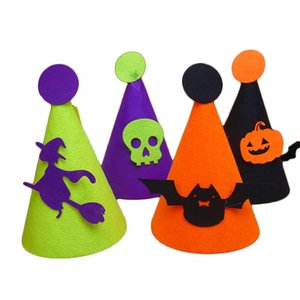 2020 new trend must-have Halloween decorations kids hat pumpkin bat skull felt hat decoration role playing interactive