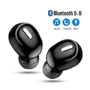 MINI I-EAR 5.0 블루투스 이어폰 HIFI 무선 헤드셋이있는 마이크 스포츠 이어폰 핸즈프리 스테레오 사운드 X9 이어폰 모든 전화기