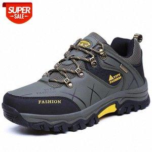 Yeni Açık Kış Erkekler Çizmeler Su Geçirmez Deri Sneakers Casual Kar Peluş Sıcak Yürüyüş Iş Ayakkabı Erkekler Çizmeler için Ücretsiz Kargo # UV6J