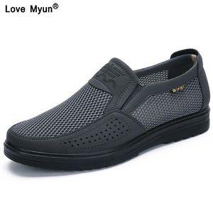 Chaussures décontractées pour hommes Men Summer Style Mesh Flats pour hommes Loafer Creepers Casual Chaussures haut de gamme Très confortable