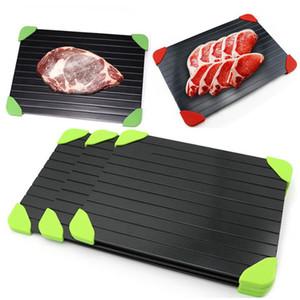 Rápido de descongelamento de descongelamento alimento carne fruta rápida placa de desgostulação placa de descongelamento descartou ferramentas de cozinha congeladas com pernas de silicone bordas pad yhm215