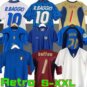 كأس العالم الرجعية إيطاليا 1990 كرة القدم المنزلي لكرة القدم 1994 جيرسي مالديني Baggio Donadoni Schillaci Totti del Piero 2006 Pirlo Inzaghi Buffon 2000
