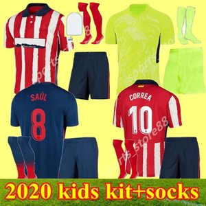 20 21 Kity Kit Atletico Suárez Madrid Home Over 3-й футбол для футболки 2020 2021 Correa Camisetas de Fútbol Youth Joao Felix футбол