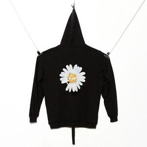 19FW Peaceminusone X Fragment Daisy Hoodies Skateboard Street Black Sweatshirts Couple Tops Oversized Coats Hooded Fashion Hip Hop HFLSWY28