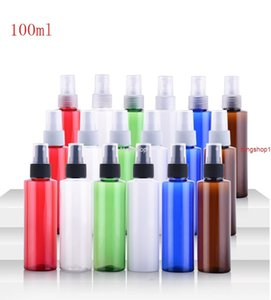 free shipping(50pcs)100ml clear white brown empty pet plastic bottle 100cc Perfume spray many colors