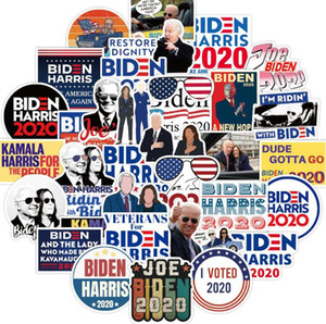 Biden Harries Letters Stickers USA President Election Joe Biden Poster Notecase Decals Luggage Gita Paster 100pcs bag Car Sticker E111801