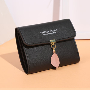 2020 Korean Version of Simple Small Wallet Tri-fold Short Wallet Coin Purse Ladies Slim Wallet Female Hasp Mini Clutch For Girl