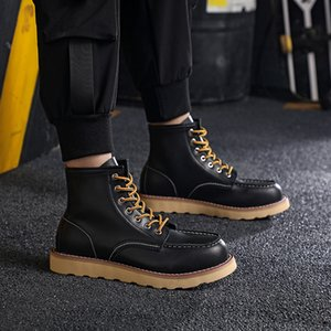 Fashion men boots designer mens womens leather shoes top quality Ankle winter boot for cowboy yellow red blue black pink hiking work 38-46