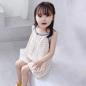 Fashion Clothes Polka Dot Sleeveless Jumpsuit For Little Girls Jumpsuit Pants 2-7 Years Old One Piece