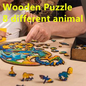 Toptan Ahşap Bulmaca A5 ADULLT Çocuk Eğitici Oyuncak Benzersiz Şekil Jigsaw Parçaları Yaratıcı Oyun Hediyeler Çocuklar için A12