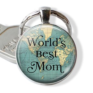 Keychain World's Car Best Chain Quote Key Kering Mother's Day Jewelry Gift for Mom