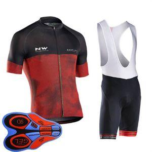 New Team NW cycling jersey suit 2019 Summer mens bicycle clothing bike short sleeve shirt (bib) shorts pants 9d GEL pad set Y102203
