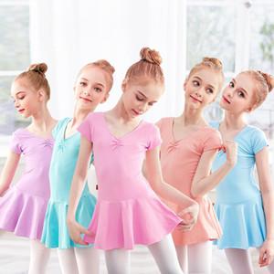 المرحلة ارتداء القطن الباليه ثياب للفتيات طفل الرقص اللباس ارتداءها الطفل التدريب الجمباز الطبقة