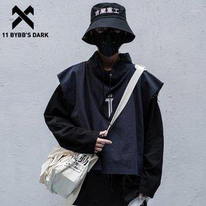 Мужские толстовки толстовки 11 Bybb's темные буквы вышивка мужчины две части 2021 весенняя хип-хоп уличная одежда пуловер технология мода га