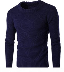 Sweater Men Solid Color Knitted 2018 Long Sleeve O Neck Korean Stylish Brief Slim Fit For Man Winter Autumn Sweater Free Ship 2017 Fashion
