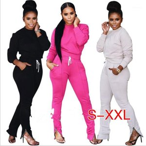 2020 Tracksuit Women Two Piece Set Top and Track Pants Leggings Sexy Bodycon 2 Piece Sweatsuit1