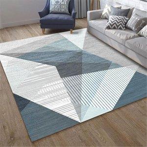 Avrupa Tarzı Geometrik Desen Halı Polyester Yıkanabilir Alan Halıları Oturma Odası Için Kat Mat Dekor Kaymaz Halılar 120x160 cm