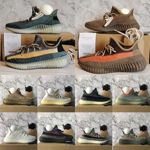 New Ash Blue Stone Pearl Sand Taupe Kanye West yezzys yeezy yeezys v2 v3 Mens Running Shoes Luxurys Designers Womens Reflective Black Israfil Sneakers 트레이너 36-48
